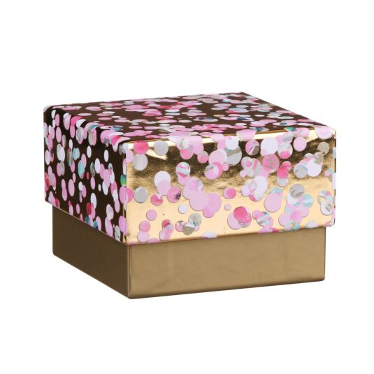 Gold And Pink Spotty Jewellery Gift Box