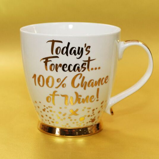 Gold Edition '100% Chance of Wine' Boxed Mug