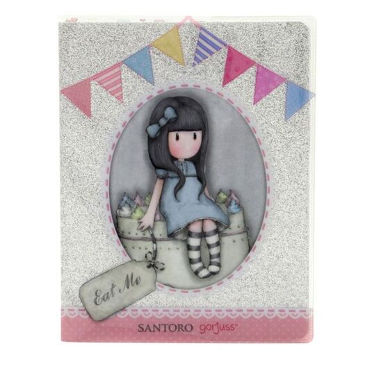 Sweet Cake Silver Glitter Notebook with PVC Cover