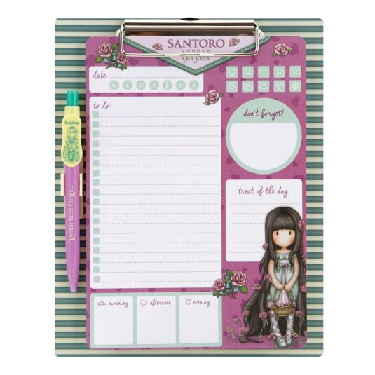 Cityscape Rosebud Magnetic Clipboard and Pen Set