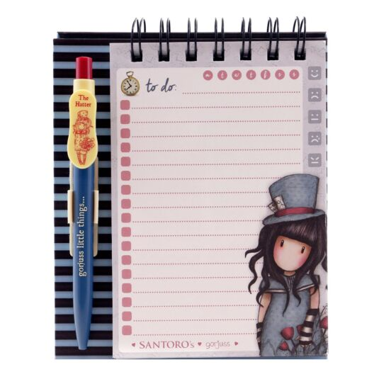 The Hatter Standing Memo Pad with Pen