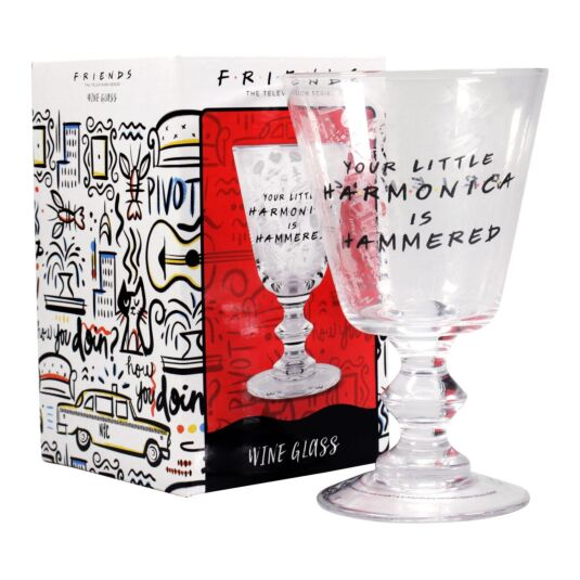 'Harmonica' Wine Glass
