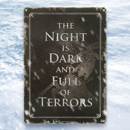 """The Night is Dark"" Metal Sign"