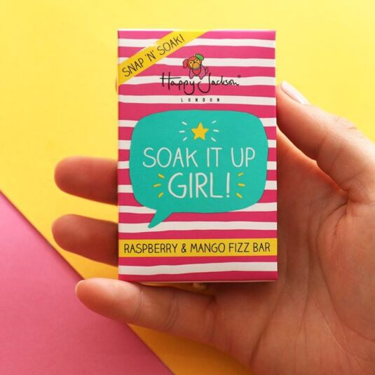 'Soak It Up Girl' Raspberry & Mango Bath Fizz Bar