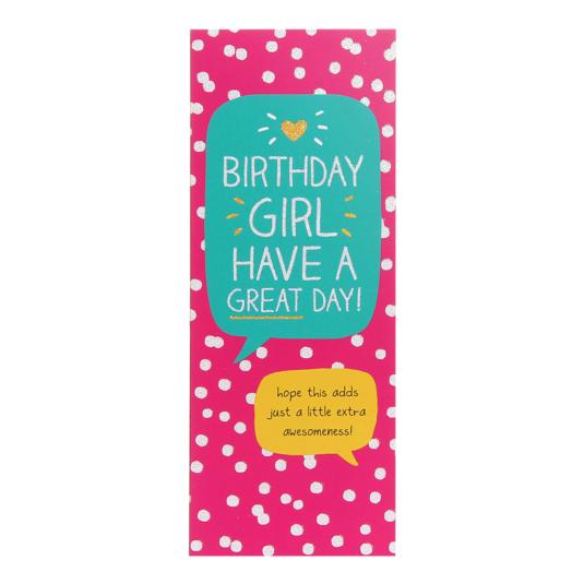 Birthday Girl Money Card
