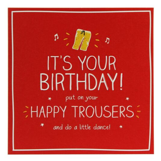 Happy Trousers Card
