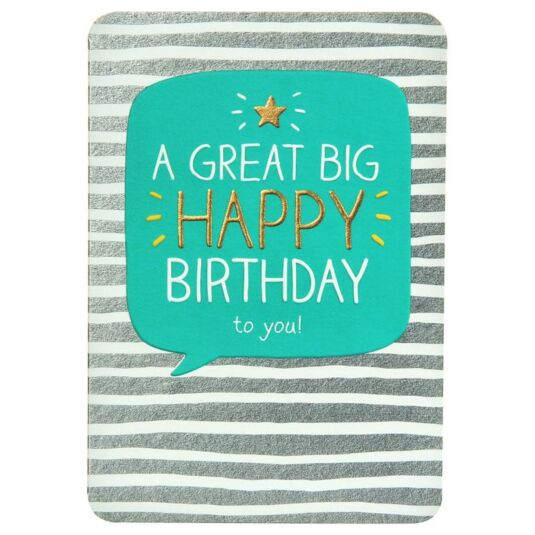 Great Big Happy Birthday Card