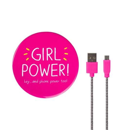 'Girl Power' Mirror Power Bank