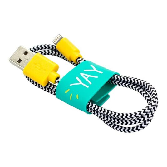 Yellow Lightning Cable with Tidy