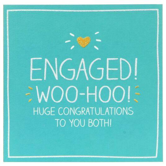 Engaged! Woo-hoo! Card