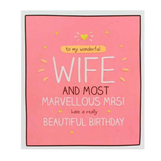 Wife Marvellous Mrs Card