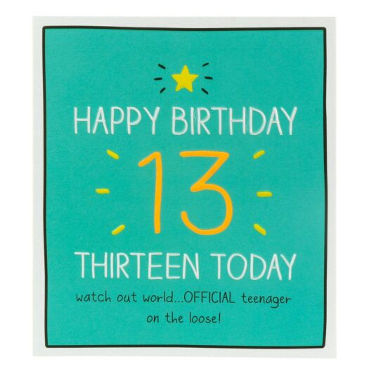 'Thirteen Today' Card