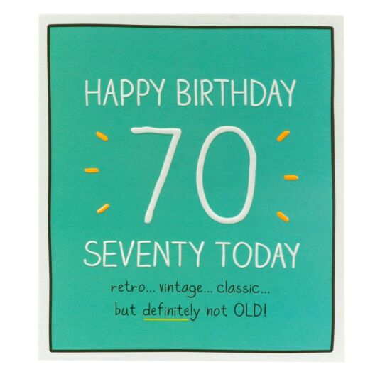 'Happy Birthday Seventy Today' Card