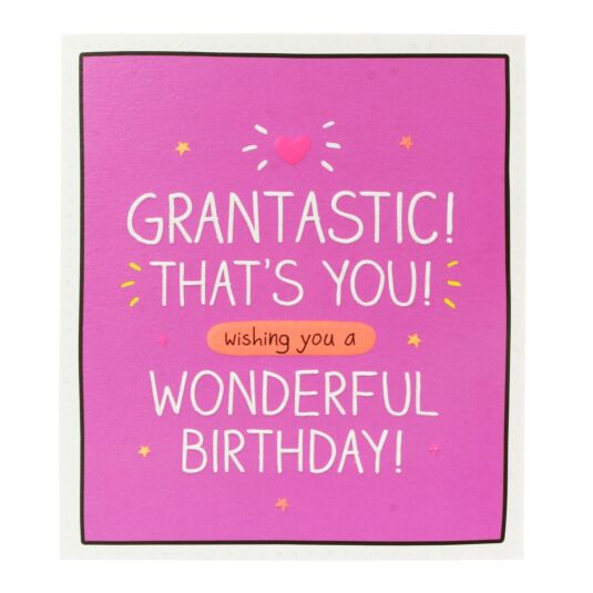 'Grantastic Wishing You a Wonderful Birthday' Card