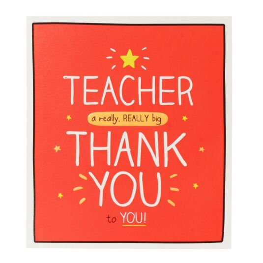 'Teacher a Really Really Big Thank You' Card