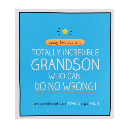 Grandson 'Totally Incredible' Card