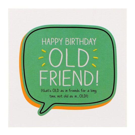 Happy Jackson Old Friend Birthday Card