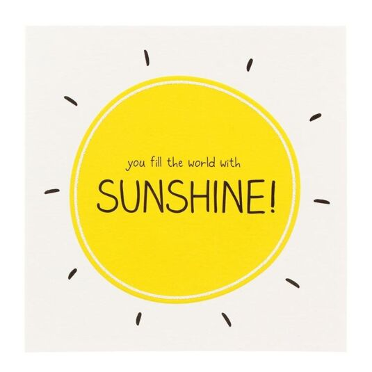 'Sunshine' Card