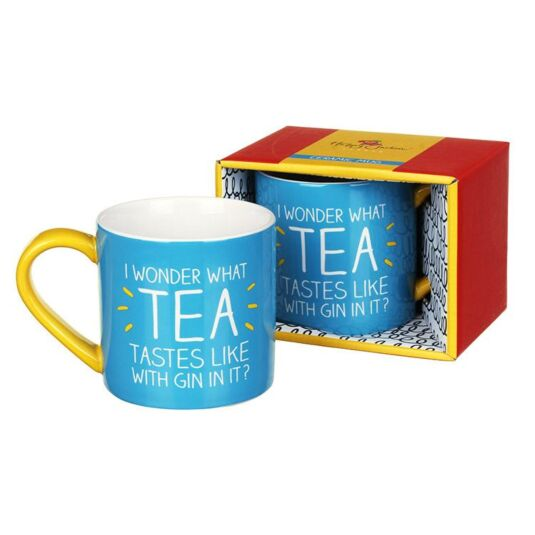 I Wonder What Tea Tastes Like with Gin In It? Boxed Mug