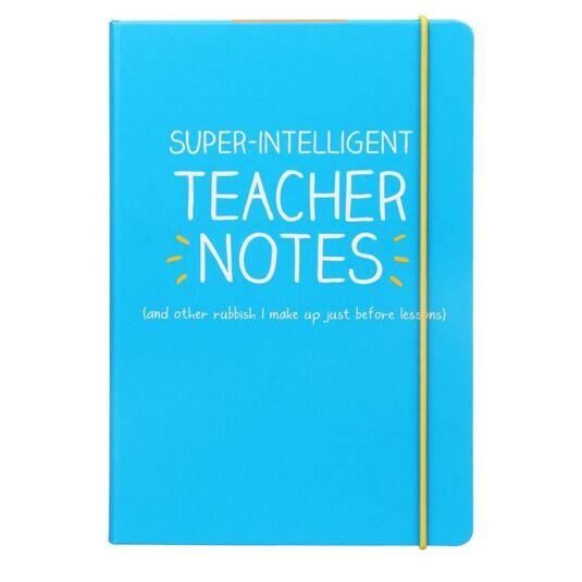 'Super Intelligent Teacher's Notes' A5 Notebook