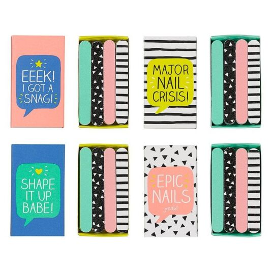Mini Nail Files in Matchbox