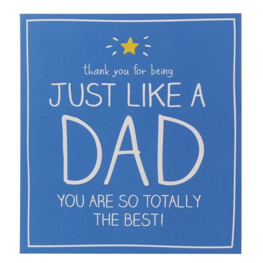 Happy Jackson Just Like A Dad Birthday Card