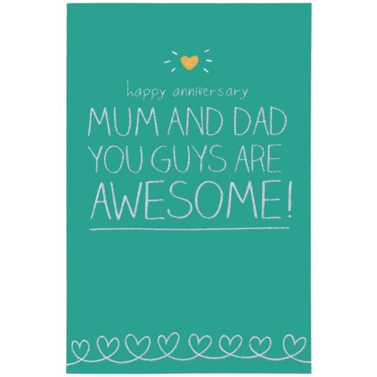 Happy Jackson Happy Anniversary Mum and Dad Card