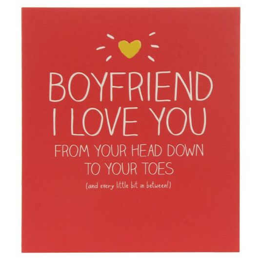 Happy Jackson Boyfriend I Love You Birthday Card Temptation Gifts