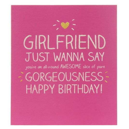 Happy Jackson Girlfriend Pure Gorgeousness Birthday Card