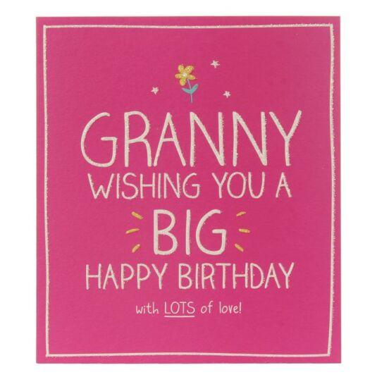 Happy Jackson Granny Big Happy Birthday Card Temptation