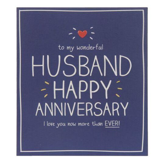 Husband Happy Anniversary Card