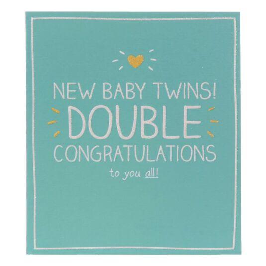 Newborn Baby Twins Card