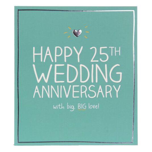 Happy Jackson Silver 25th Wedding Anniversary Card ...