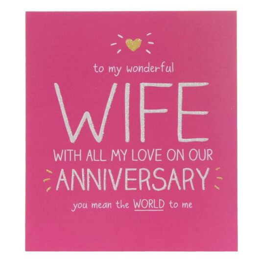 Happy jackson wonderful wife anniversary card temptation gifts m4hsunfo