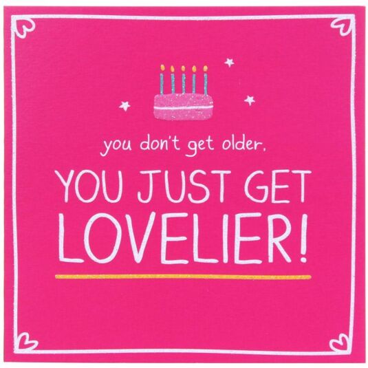 You Just Get Lovelier Birthday Card
