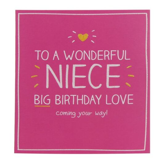 Wonderful Niece Birthday Card