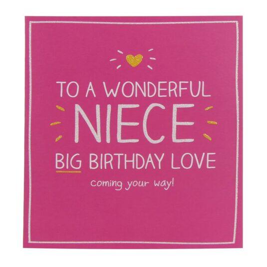 Wonderful Niece Birthday Card