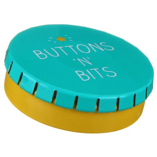 Buttons 'N' Bits Click Clack Tin
