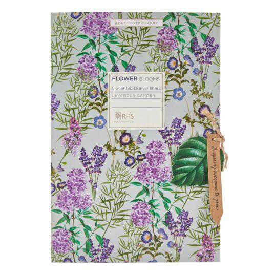 RHS Flower Blooms Lavender Garden Scented Drawer Liners