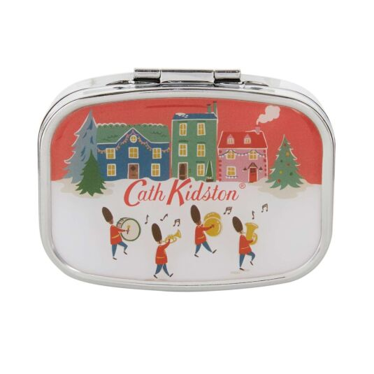 Christmas Village Compact Mirror & Lip Balm