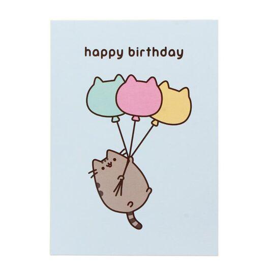 Pusheen Balloons – Happy Birthday Card | Temptation Gifts