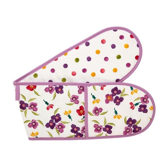 Wallflower Polka Dot Double Oven Glove