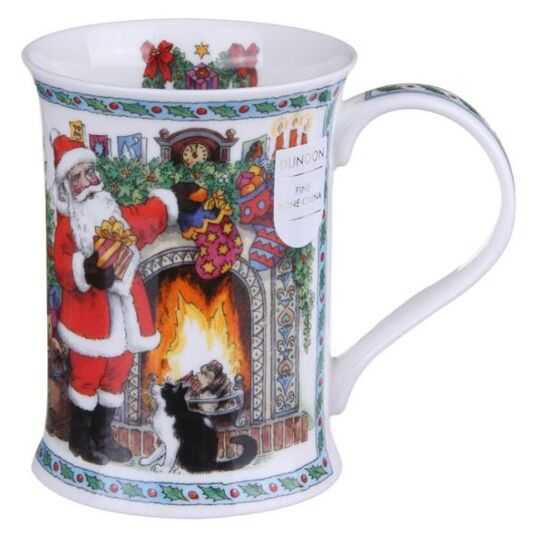 It's Christmas - Fireplace With Holly Cotswold shape Mug