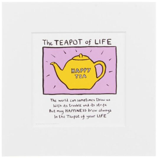 Edward Monkton Teapot Of Life Limited Edition Fine Art Print Temptation Gifts