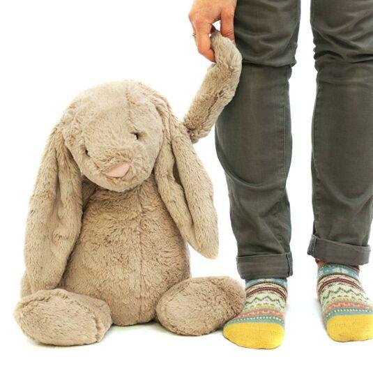 Huge Bashful Beige Bunny