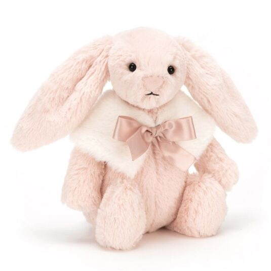 Small Bashful Blush Snow Bunny