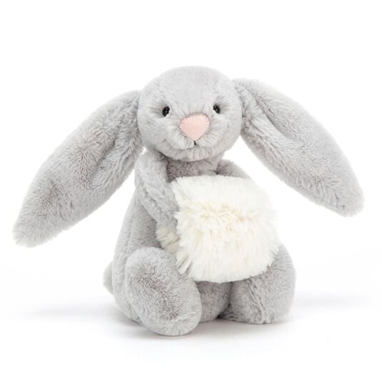 Small Bashful Silver Snow Bunny