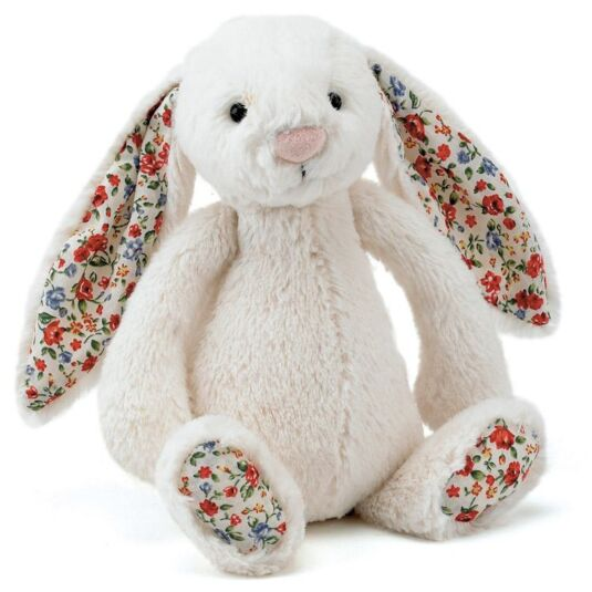 Medium Cream Bashful Blossom Bunny