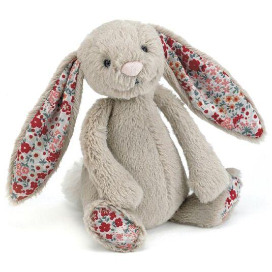 Small Beige Blossom Bashful Bunny
