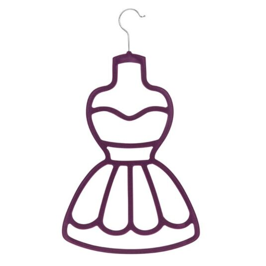 Purple Dress Scarf Holder